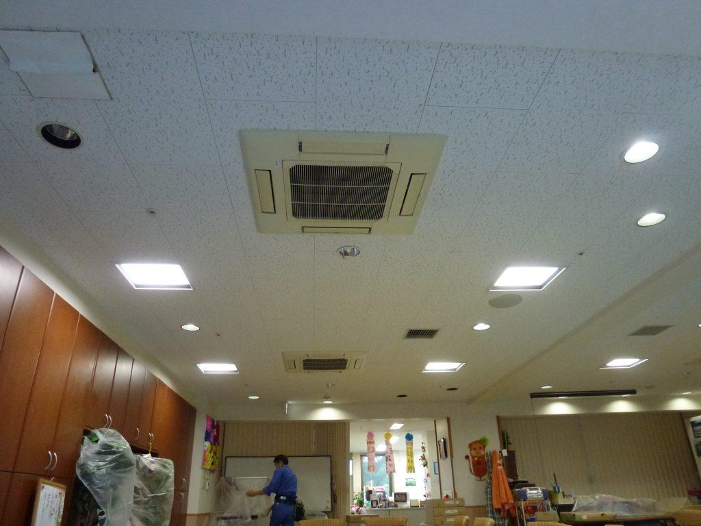 LED照明設置前のイメージ